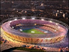 Artist's impression of the London 2012 Olympic stadium