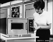 1966 demo of a microwave