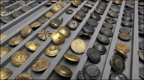 Brass Buttons in the Museum of London