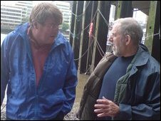 Ed Stourton and Tony Pilson