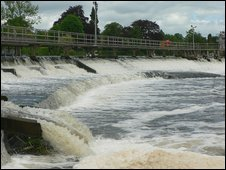 A weir on the River Thames
