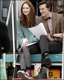 Matt Smith in the tweed jacket with new assistant Karen Gillan