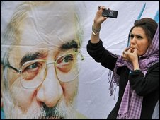 A supporter of Mir-Hossein Mousavi in Tehran (9 July 2009)