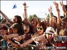 Festival-goers at Latitude