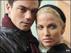 Sarah Harding and Dominic Cooper from Freefall