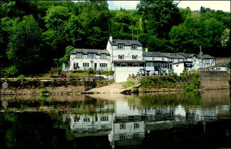 Bill White took this picture of a still day at the Ferry Inn on the River Wye.