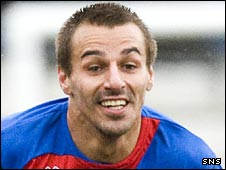 Filipe Morais in action for Inverness
