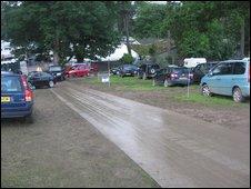 A show car park
