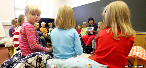 Children at a nursery school in Finland