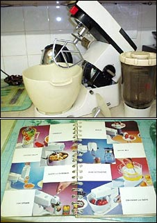 Joan Archer's Kenwood Chef and 1967 recipe book for it