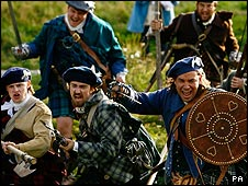Jacobite Re-enactment Takes Place Outside Holyrood