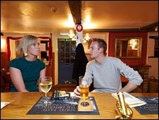 Couple in pub