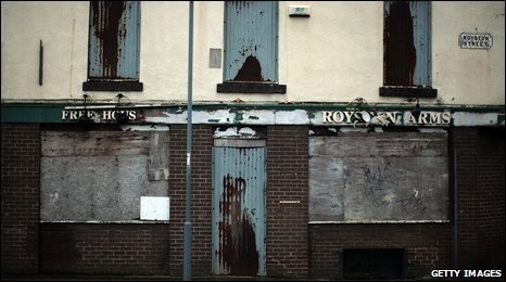 A derelict Liverpool pub