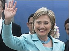 Hillary Clinton arrives in Phuket (22.7.09)