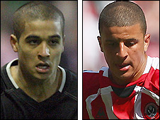Kyle Naughton (left) and Kyle Walker