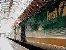 First Great Western train at Paddington, London