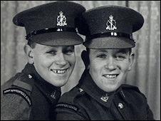 Jimmie (left) and Ron (right) after the pair signed up aged 15