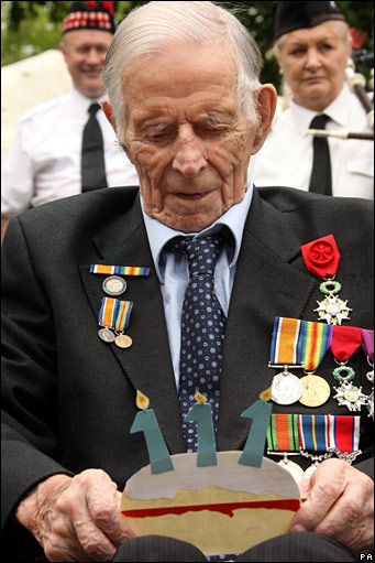 Harry Patch celebrates his 111th birthday