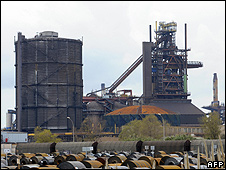 Arcelormittal blast furnaces at Fos-sur-Mer, southern France