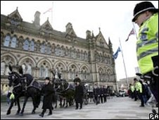 Pc Beshenivsky's funeral procession