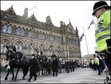 Pc Beshenivsky's funeral procession