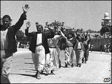 Palestinian surrendering in Ramle during 1948 war