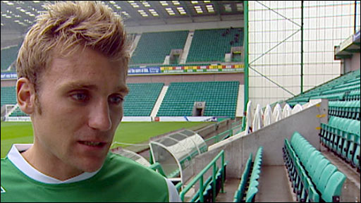 Hibernian captain Chris Hogg