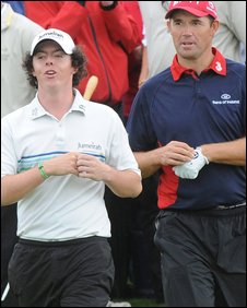 Rory McIlroy and Padraig Harrington