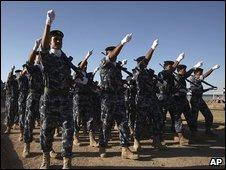 Iraqi police in Ramadi, Anbar province, June 2009