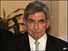 Oscar Arias in San Jose, 22 July 2009