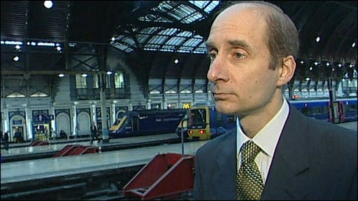 Lord Adonis at Paddington Station