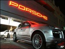 Porsche dealership in Qatar