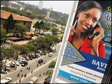 Mobile phone ad in Nairobi, generic