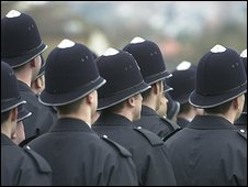 Police constables on a passing out parade