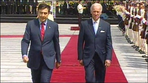 Mikhail Saakashvili and Joe Biden