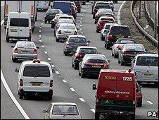Motorway jam