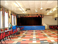 The stage at Denaby & Cadeby Miners' Welfare Club