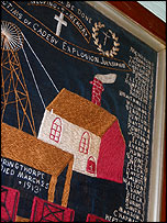 Embroidery for the Cadeby pit disaster (1912)