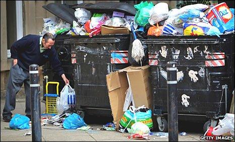 Rubbish in Edinburgh