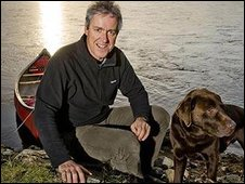 Griff Rhys Jones and his dog