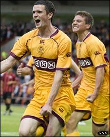 Jamie Murphy celebrates his opening goal