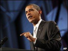 President Obama speaks at Shaker Heights High School, Ohio