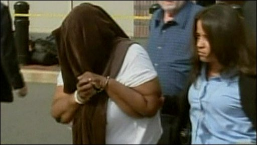 A woman arrested in New Jersey