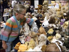 Buyers peruse stalls choc-a-bloc with toys old and new