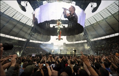 U2 perform in Berlin on their 360 world tour
