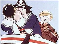Captain Pugwash and Tom the Cabin Boy
