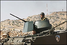 Lebanese Army near border with Israel (file pic)