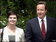 Chloe Smith and David Cameron