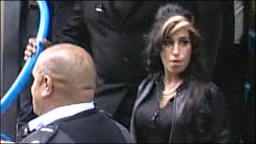 Amy Winehouse leaving court