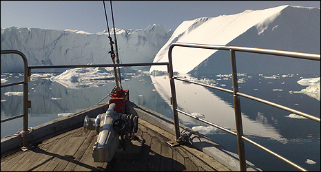 Ilulissat glacier (Image: BBC)